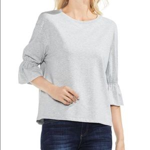 Vince Camuto Gray Flared-Sleeve Sweatshirt NWOT